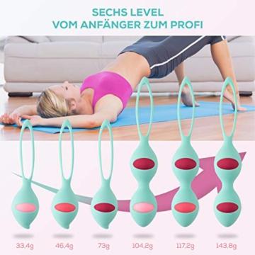 13AM Beckenbodentrainer für Frauen Set für Beckenbodentraining Kugeln in 6 Intensitätsstufen für Anfänger bis Profi nach und vor Schwangerschaft - 5