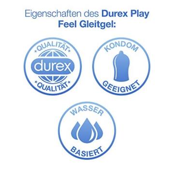 Durex Play Feel Gleitgel auf Wasserbasis – Leichtes, seidiges Gleitgel für gefühlsechtes Empfinden – 1 x 100 ml in der praktischen Dosierflasche - 4