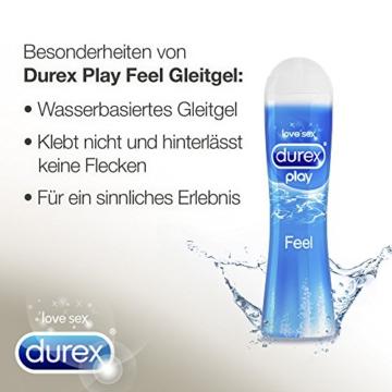 Durex Play Feel Gleitgel auf Wasserbasis – Leichtes, seidiges Gleitgel für gefühlsechtes Empfinden – 1 x 100 ml in der praktischen Dosierflasche - 5