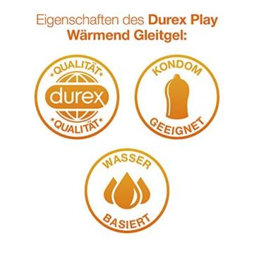 Durex Play Wärmend Gleitgel auf Wasserbasis (Sanftes Gleitgel mit wärmendem Effekt) 1 x 100ml in der praktischen Dosierflasche - 3