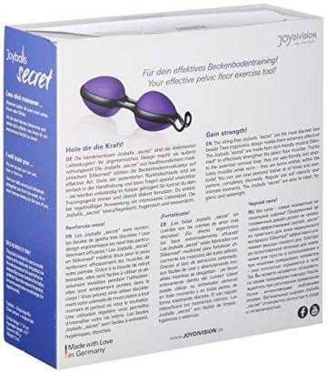 Joydivision Joyballs secret - violett-schwarz, 1 Stück - 3