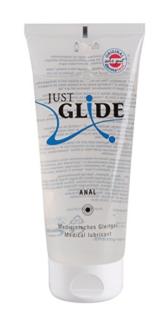Just Glide Anal Gleitgel 200 ml - Natürliches Gleitmittel auf Wasserbasis für sie und ihn, Gleitcreme für Analverkehr, 100% vegan - 1