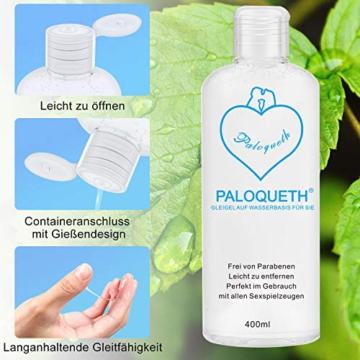 PALOQUETH Gleitgel auf Wasserbasis (400 ML), Premium Aqua Gleitmittel Sicher Langzeitwirkung Und Intimgel Sensitiv - 2