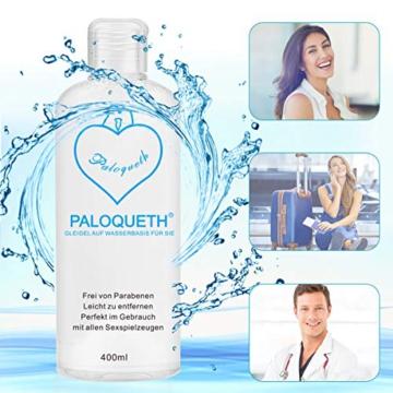 PALOQUETH Gleitgel auf Wasserbasis (400 ML), Premium Aqua Gleitmittel Sicher Langzeitwirkung Und Intimgel Sensitiv - 3