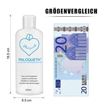 PALOQUETH Gleitgel auf Wasserbasis (400 ML), Premium Aqua Gleitmittel Sicher Langzeitwirkung Und Intimgel Sensitiv - 5