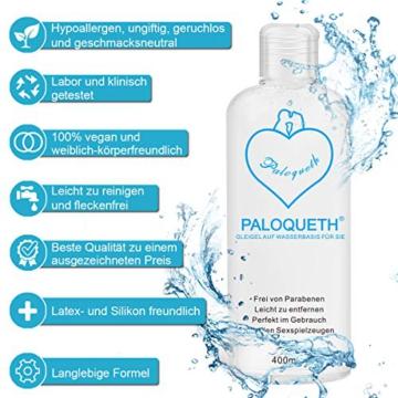 PALOQUETH Gleitgel auf Wasserbasis (400 ML), Premium Aqua Gleitmittel Sicher Langzeitwirkung Und Intimgel Sensitiv - 6