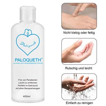 PALOQUETH Gleitgel auf Wasserbasis (400 ML), Premium Aqua Gleitmittel Sicher Langzeitwirkung Und Intimgel Sensitiv - 7