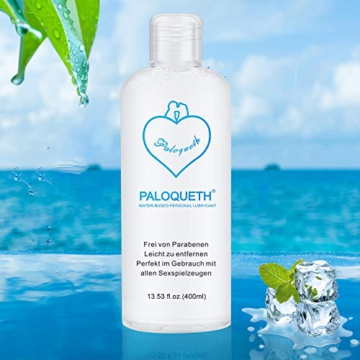 PALOQUETH Gleitgel auf Wasserbasis (400 ML), Premium Aqua Gleitmittel Sicher Langzeitwirkung Und Intimgel Sensitiv - 9
