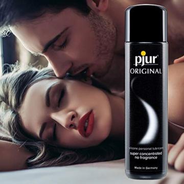 pjur ORIGINAL – Premium Silikon-Gleitgel – lange Gleitfähigkeit ohne zu kleben – sehr ergiebig und für Kondome geeignet – 1er Pack (1 x 100ml) -