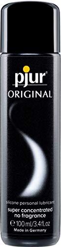 pjur ORIGINAL - Premium Silikon-Gleitgel - lange Gleitfähigkeit ohne zu kleben - sehr ergiebig und für Kondome geeignet - 1er Pack (1 x 100ml) - 1