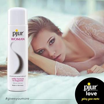 pjur WOMAN - Gleitgel für Frauen auf Silikonbasis - für prickelnden Sex und längeren Spaß - optimal für empfindliche Haut - 1er Pack (1 x 100 ml) - 2