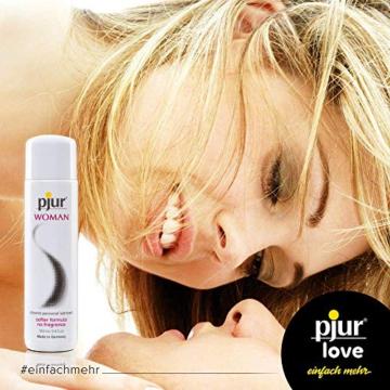 pjur WOMAN - Gleitgel für Frauen auf Silikonbasis - für prickelnden Sex und längeren Spaß - optimal für empfindliche Haut - 1er Pack (1 x 100 ml) - 3