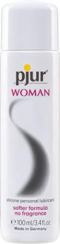pjur WOMAN - Gleitgel für Frauen auf Silikonbasis - für prickelnden Sex und längeren Spaß - optimal für empfindliche Haut - 1er Pack (1 x 100 ml) - 1