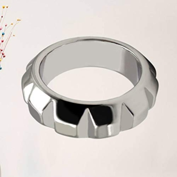 Healifty Metal Penis Rings Elastic Cock Rings Waterproof Penile Exerciser Enlarger Stronger Harder Erection to Prolonging Climax for Men (41mm) - 4