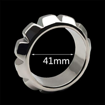 Healifty Metal Penis Rings Elastic Cock Rings Waterproof Penile Exerciser Enlarger Stronger Harder Erection to Prolonging Climax for Men (41mm) - 5